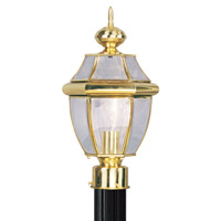 Livex 2153-02 Monterey 1 Light 16 inch Polished Brass Outdoor Post Head