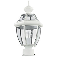 Livex 2153-03 Monterey 1 Light 16 inch White Outdoor Post Head alternative photo thumbnail