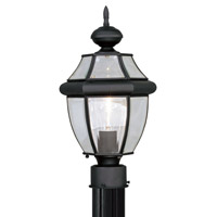 Livex Lighting Monterey 1 Light Outdoor Post Head in Black 2153-04 photo thumbnail