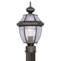 Livex 2153-07 Monterey 1 Light 16 inch Bronze Outdoor Post Head