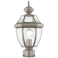 Monterey 1 Light 16 inch Brushed Nickel Outdoor Post Head