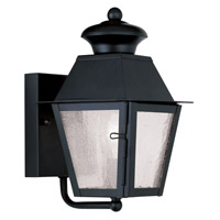 Livex Lighting Mansfield 1 Light Outdoor Wall Lantern in Black 2160-04