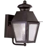 Mansfield 1 Light 9 inch Bronze Outdoor Wall Lantern