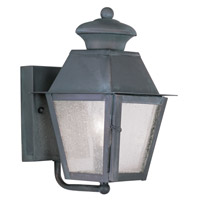 Livex Lighting Mansfield 1 Light Outdoor Wall Lantern in Charcoal 2160-61