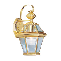 Livex Lighting Georgetown 1 Light Outdoor Wall Lantern in Polished Brass 2161-02 photo thumbnail