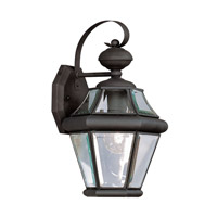Livex 2161-04 Georgetown 1 Light 15 inch Black Outdoor Wall Lantern