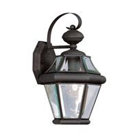 Livex 2161-04 Georgetown 1 Light 15 inch Black Outdoor Wall Lantern