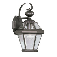 Livex 2161-07 Georgetown 1 Light 15 inch Bronze Outdoor Wall Lantern
