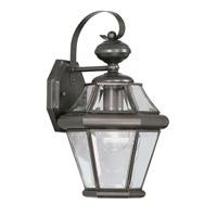 Livex 2161-07 Georgetown 1 Light 15 inch Bronze Outdoor Wall Lantern