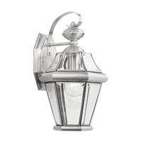 Livex Lighting Georgetown 1 Light Outdoor Wall Lantern in Brushed Nickel 2161-91 photo thumbnail