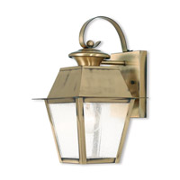 Mansfield 1 Light 13 inch Antique Brass Outdoor Wall Lantern
