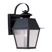Livex Lighting Mansfield 1 Light Outdoor Wall Lantern in Black 2162-04