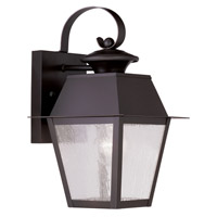 Livex Lighting Mansfield 1 Light Outdoor Wall Lantern in Bronze 2162-07
