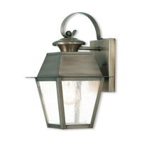 Mansfield 1 Light 13 inch Vintage Pewter Outdoor Wall Lantern