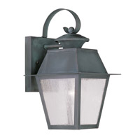 Livex 2162-61 Mansfield 1 Light 13 inch Charcoal Outdoor Wall Lantern photo thumbnail
