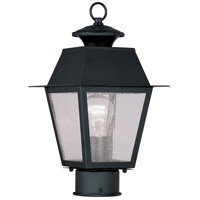 Livex Lighting Mansfield 1 Light Outdoor Post Head in Black 2163-04