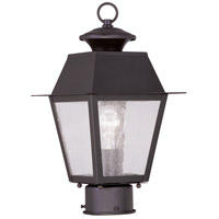 Livex 2163-07 Mansfield 1 Light 14 inch Bronze Outdoor Post Head