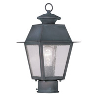 Livex 2163-61 Mansfield 1 Light 14 inch Charcoal Outdoor Post Head photo thumbnail
