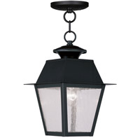 Livex Lighting Mansfield 1 Light Outdoor Hanging Lantern in Black 2164-04