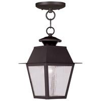 Livex 2164-07 Mansfield 1 Light 8 inch Bronze Outdoor Hanging Lantern