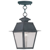 Livex Lighting Mansfield 1 Light Outdoor Hanging Lantern in Charcoal 2164-61