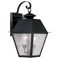 Livex Lighting Mansfield 2 Light Outdoor Wall Lantern in Black 2165-04
