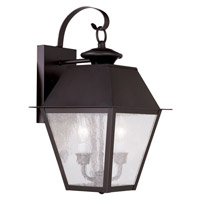 Livex Lighting Mansfield 2 Light Outdoor Wall Lantern in Bronze 2165-07