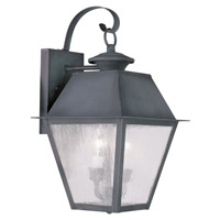 Livex Lighting Mansfield 2 Light Outdoor Wall Lantern in Charcoal 2165-61