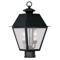 Livex Lighting Mansfield 2 Light Outdoor Post Head in Black 2166-04