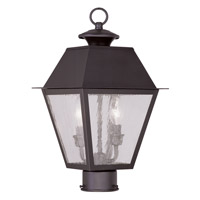 Livex 2166-07 Mansfield 2 Light 17 inch Bronze Outdoor Post Head