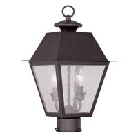 Livex 2166-07 Mansfield 2 Light 17 inch Bronze Outdoor Post Head