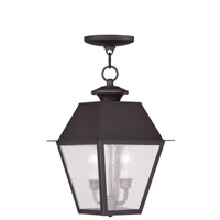 Livex Lighting Mansfield 2 Light Outdoor Hanging Lantern in Bronze 2167-07