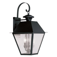 Livex Lighting Mansfield 3 Light Outdoor Wall Lantern in Black 2168-04