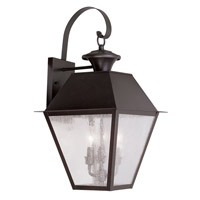 Livex Lighting Mansfield 3 Light Outdoor Wall Lantern in Bronze 2168-07