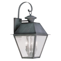 Livex Lighting Mansfield 3 Light Outdoor Wall Lantern in Charcoal 2168-61