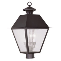 Livex 2169-07 Mansfield 3 Light 21 inch Bronze Outdoor Post Head