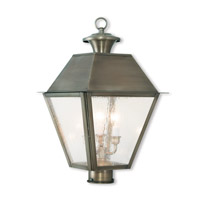 Mansfield 3 Light 21 inch Vintage Pewter Post-Top Lantern