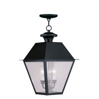 Livex Lighting Mansfield 3 Light Outdoor Hanging Lantern in Black 2170-04