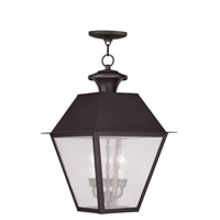 Livex Lighting Mansfield 3 Light Outdoor Hanging Lantern in Bronze 2170-07