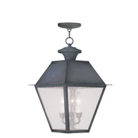 Livex Lighting Mansfield 3 Light Outdoor Hanging Lantern in Charcoal 2170-61