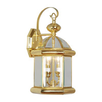 Livex Limited 2 Light Outdoor Wall Lantern in Polished Brass 2171-02
