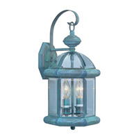 Livex Limited 2 Light Outdoor Wall Lantern in Verdigris 2171-06