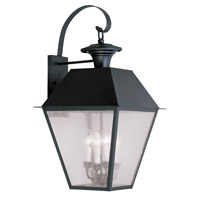 Livex Lighting Mansfield 4 Light Outdoor Wall Lantern in Black 2172-04