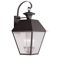 Livex Lighting Mansfield 4 Light Outdoor Wall Lantern in Bronze 2172-07