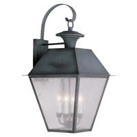 Livex Lighting Mansfield 4 Light Outdoor Wall Lantern in Charcoal 2172-61