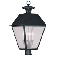 Livex Lighting Mansfield 4 Light Outdoor Post Head in Black 2173-04