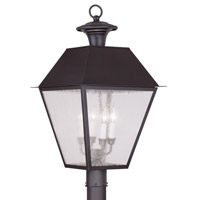 Livex Lighting Mansfield 4 Light Outdoor Post Head in Bronze 2173-07