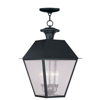 Livex Lighting Mansfield 4 Light Outdoor Hanging Lantern in Black 2174-04