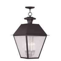 Livex Lighting Mansfield 4 Light Outdoor Hanging Lantern in Bronze 2174-07 photo thumbnail