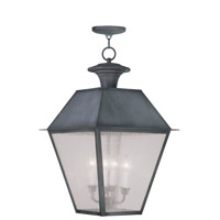 Livex Lighting Mansfield 4 Light Outdoor Hanging Lantern in Charcoal 2174-61